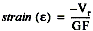 To convert voltage readings to strain units use the following equation
