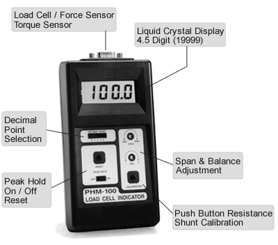 PHM-100 is a portable hand-held digital indicator.