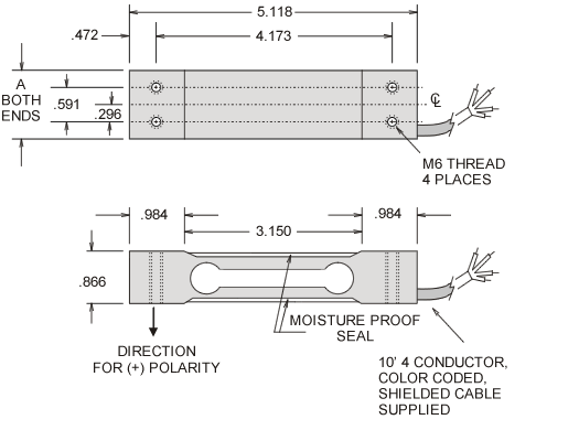 esp series beam load cell specifications