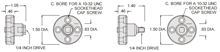 Specifications for socket wrench adapter