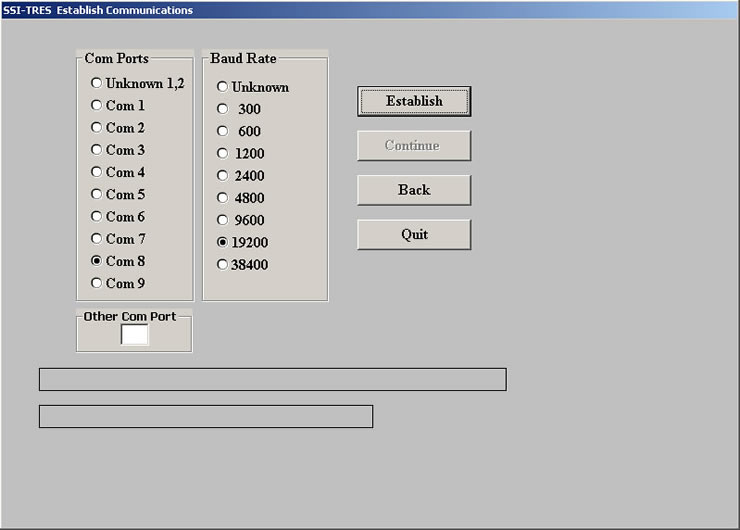 SSI-TRES TEDS Reader Editor Software screen 3